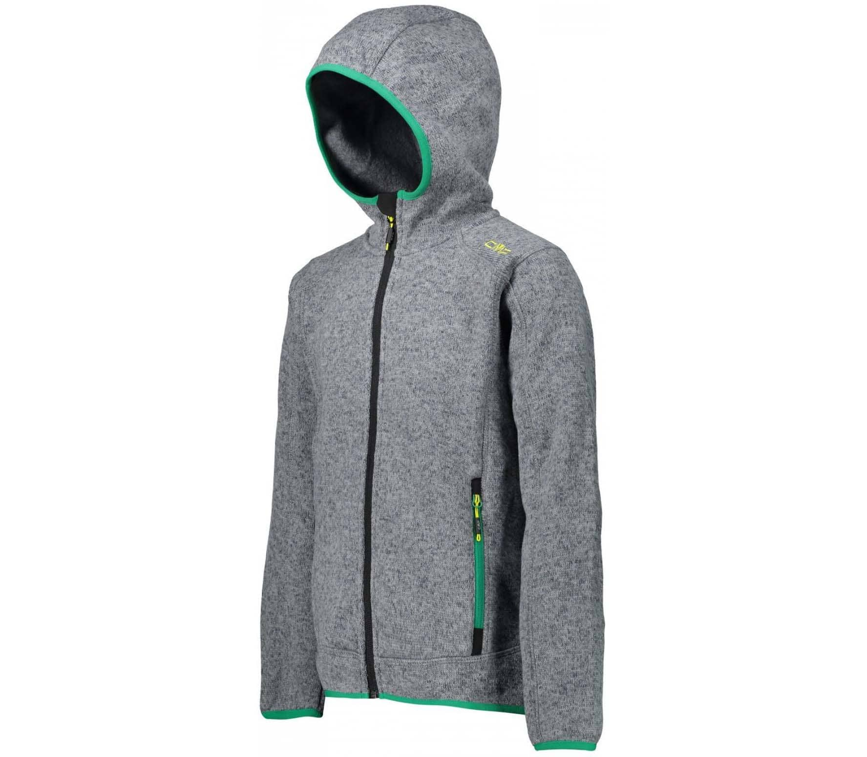 Fix Hood Junior Strick Kinder Fleecejacke