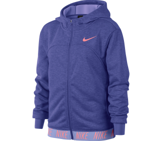 Nike Dry Full-Zip Studio Junior Trainingshoodie Kinder lila