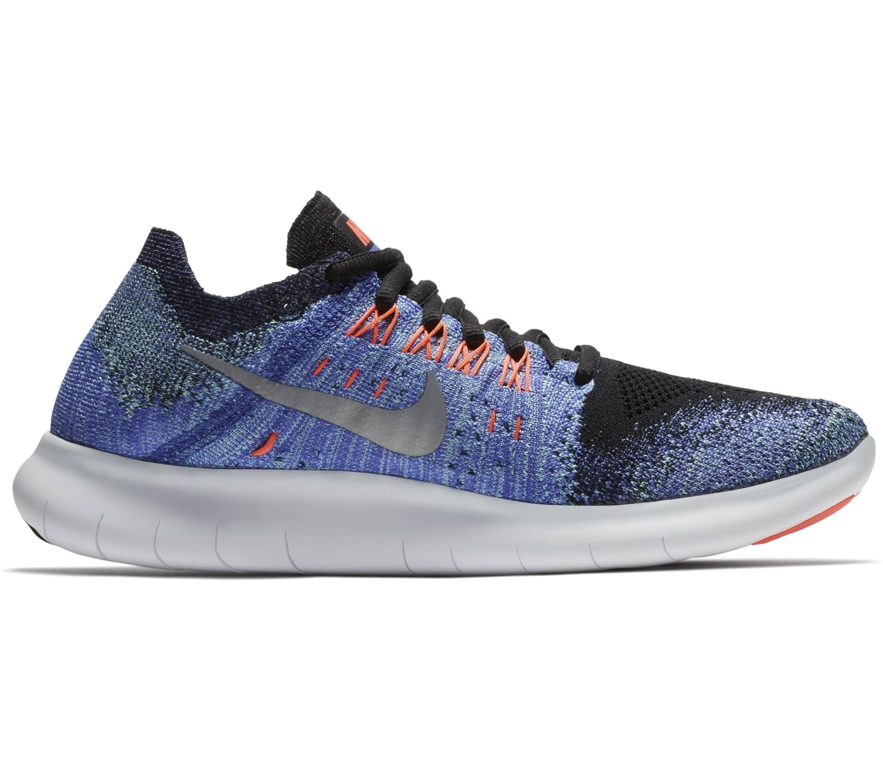 c3d838513318 ... where to buy nike free rn flyknit 2017 womens running shoes blue black  ed5c3 2ac4a