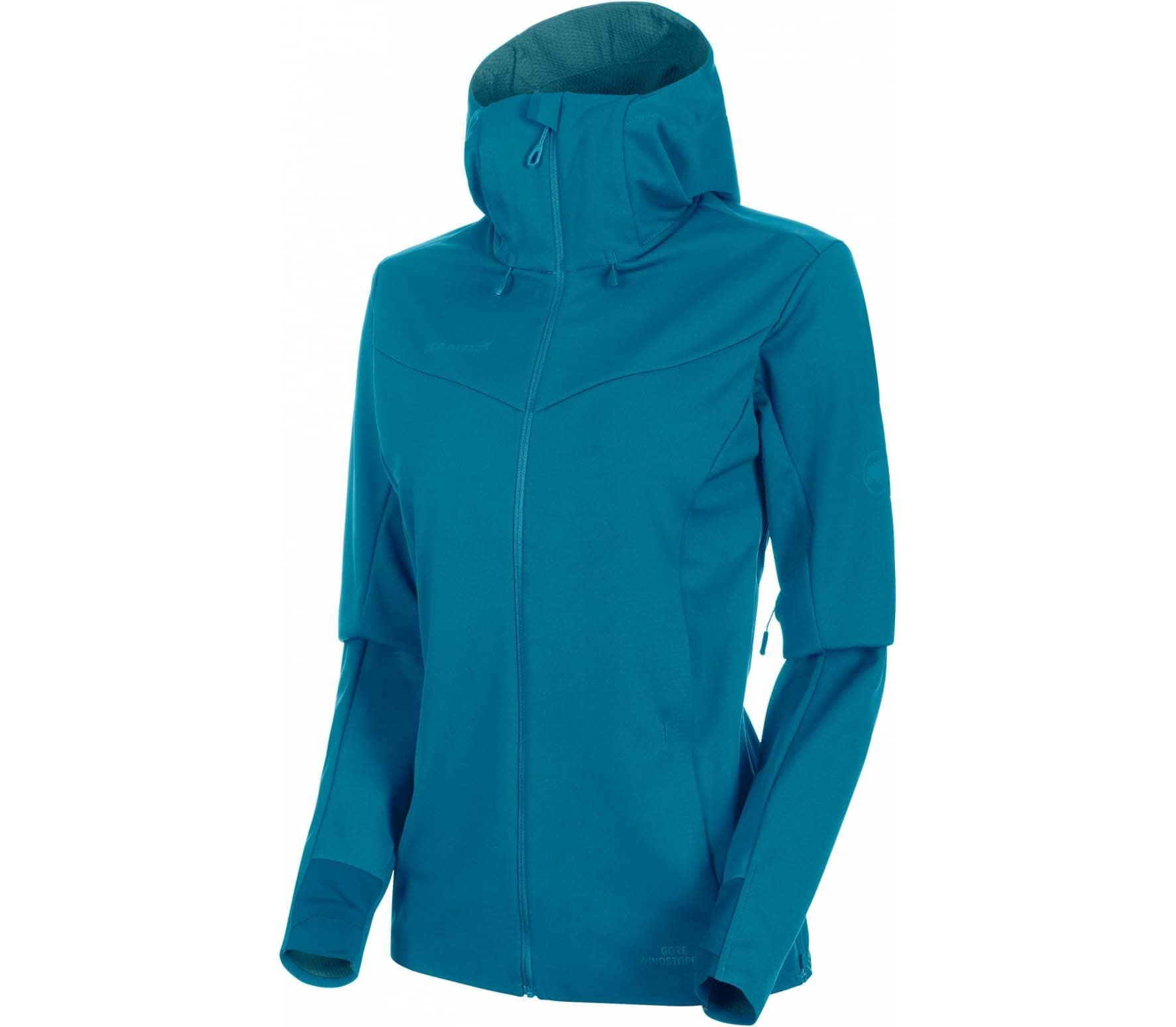 online retailer 1dd6a ac6f7 Mammut Ultimate V SO Damen Softshelljacke blau