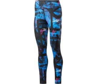 Reebok Workout Ready Myt New All Over Graphic Women Training Tights
