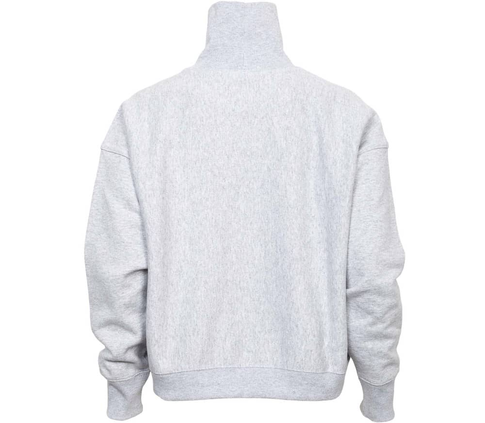 Reverse Weave Brushed Fleece High Neck Dam Sweatshirt