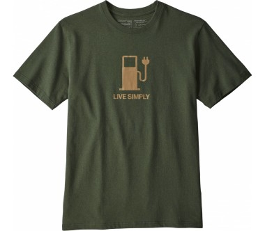Patagonia - Live Simply Power Responsibili men's t-shirt (green)