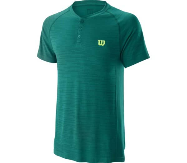 WILSON Competition Seamless Henley Men Tennis Top - 1