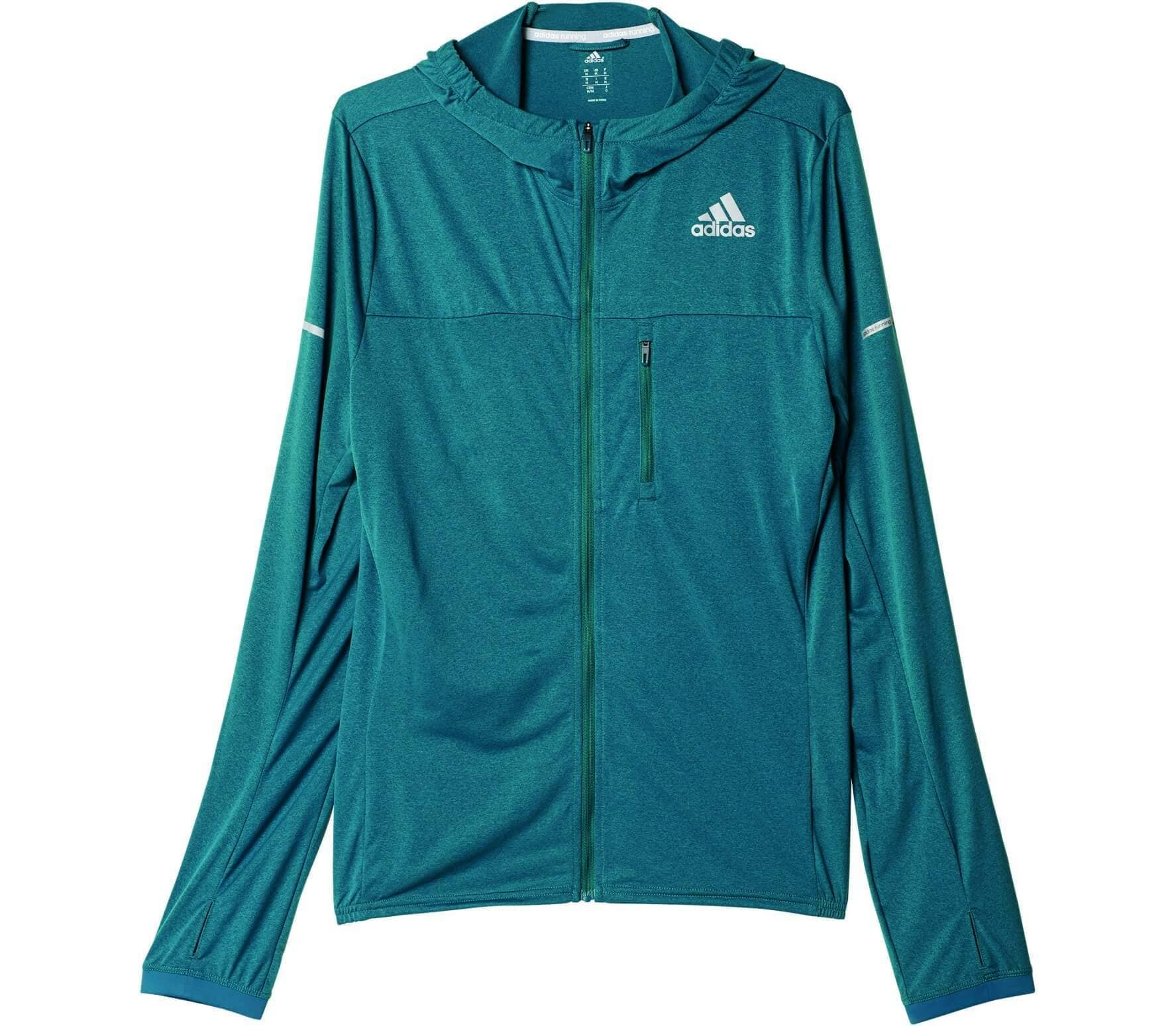 Adidas - Stretch men's running jacket (dark green) - M thumbnail