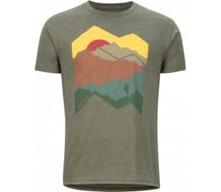 Zig Zag Mountains Mænd T-Shirt