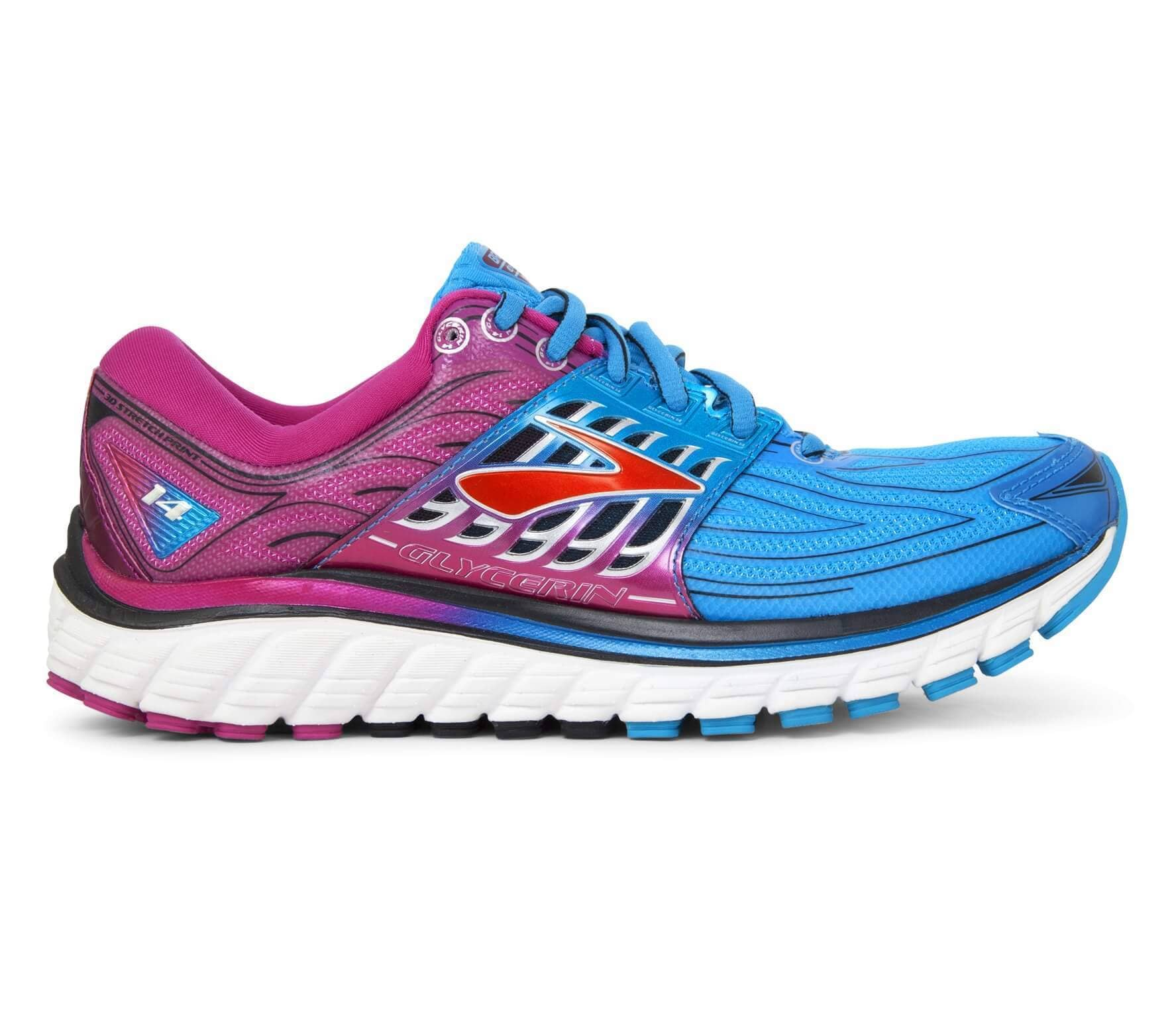 b0e5cac5376ea Brooks - Glycerin 14 women s running shoes (blue pink) - buy it at ...