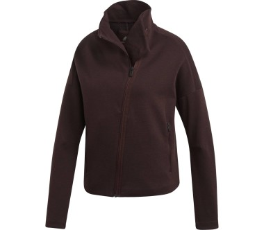 Adidas - HTR AI women's training jacket (dark red)