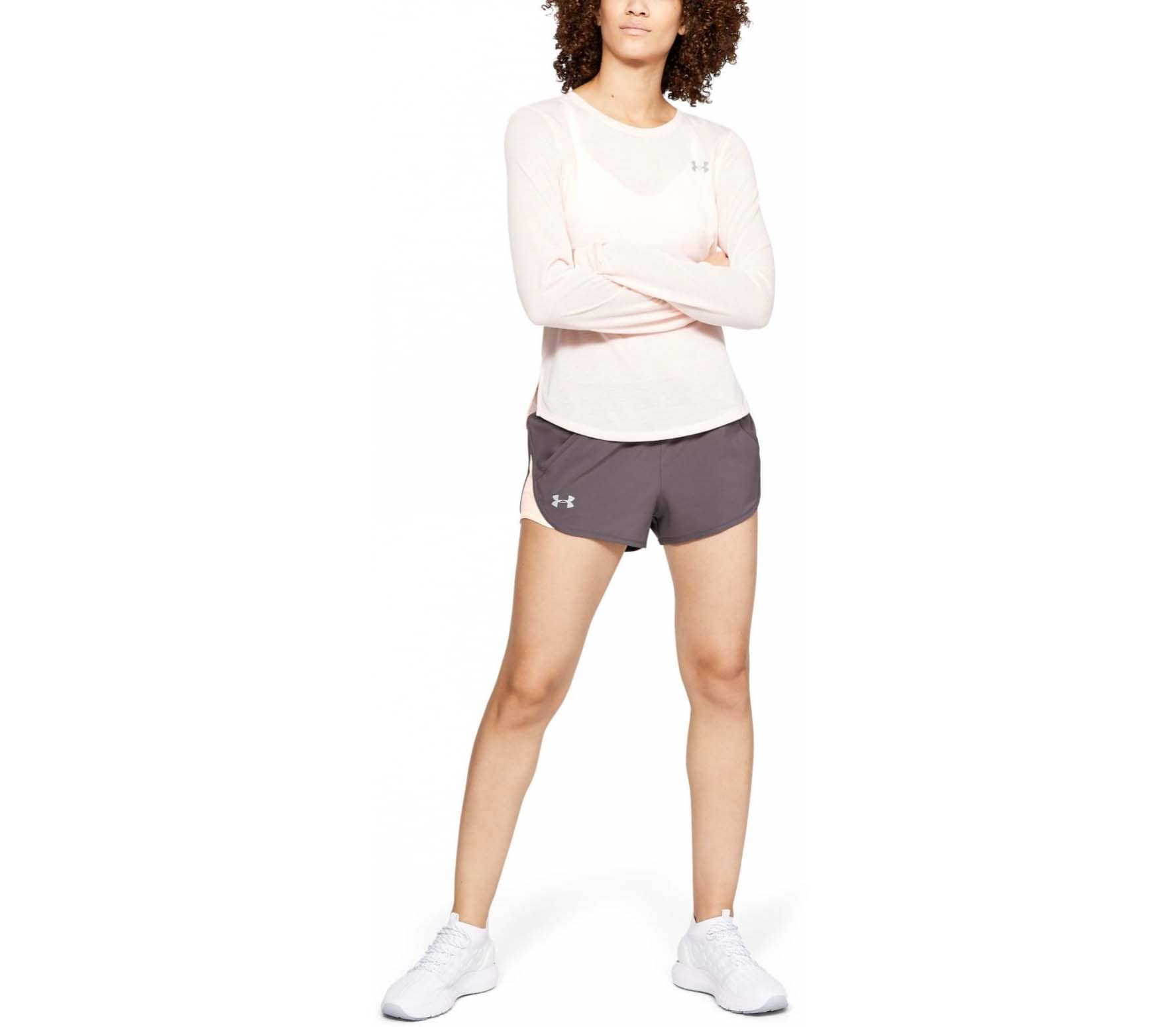 Under Armour Fly By Mini Femmes Short running gris
