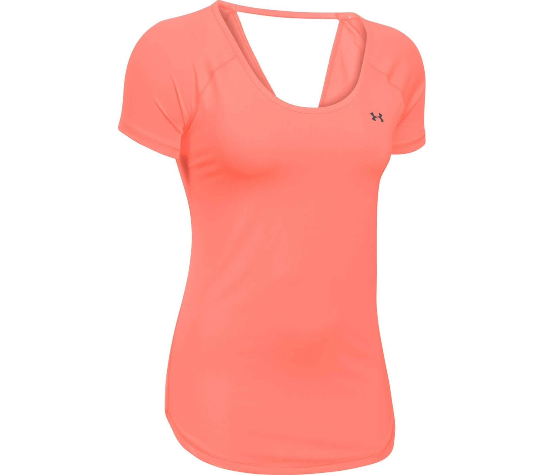 62274197 Under Armour - Heatgear Armour Coolswitch Shortsleeve women's training  t-shirt (orange)
