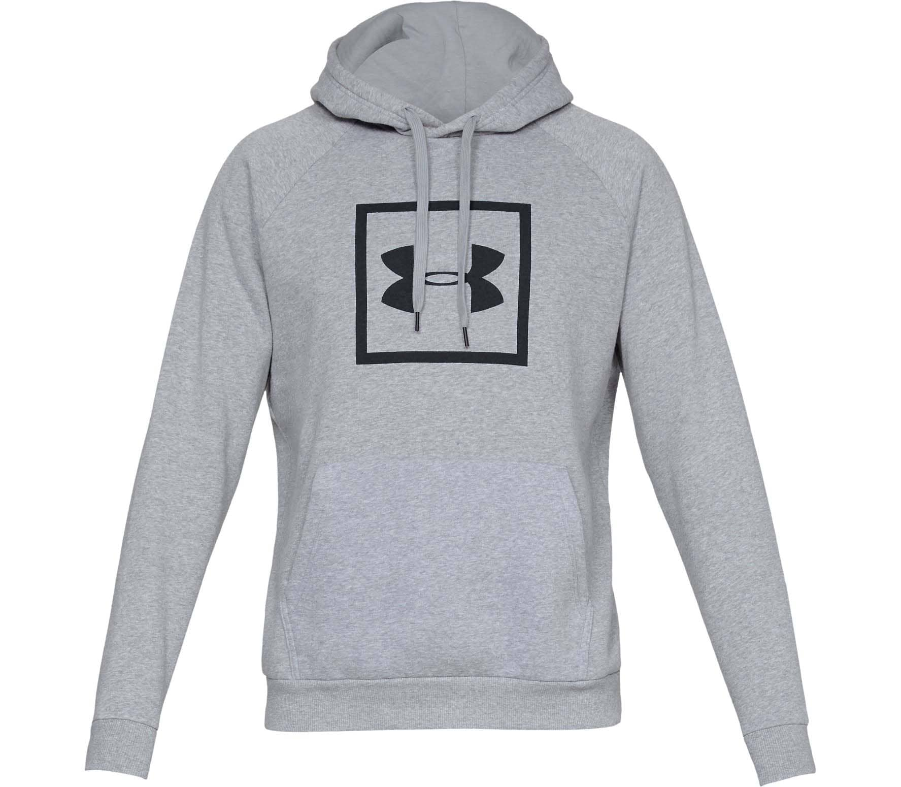 Under Armour Rival Fleece Box Logo Herr Huvtröja L