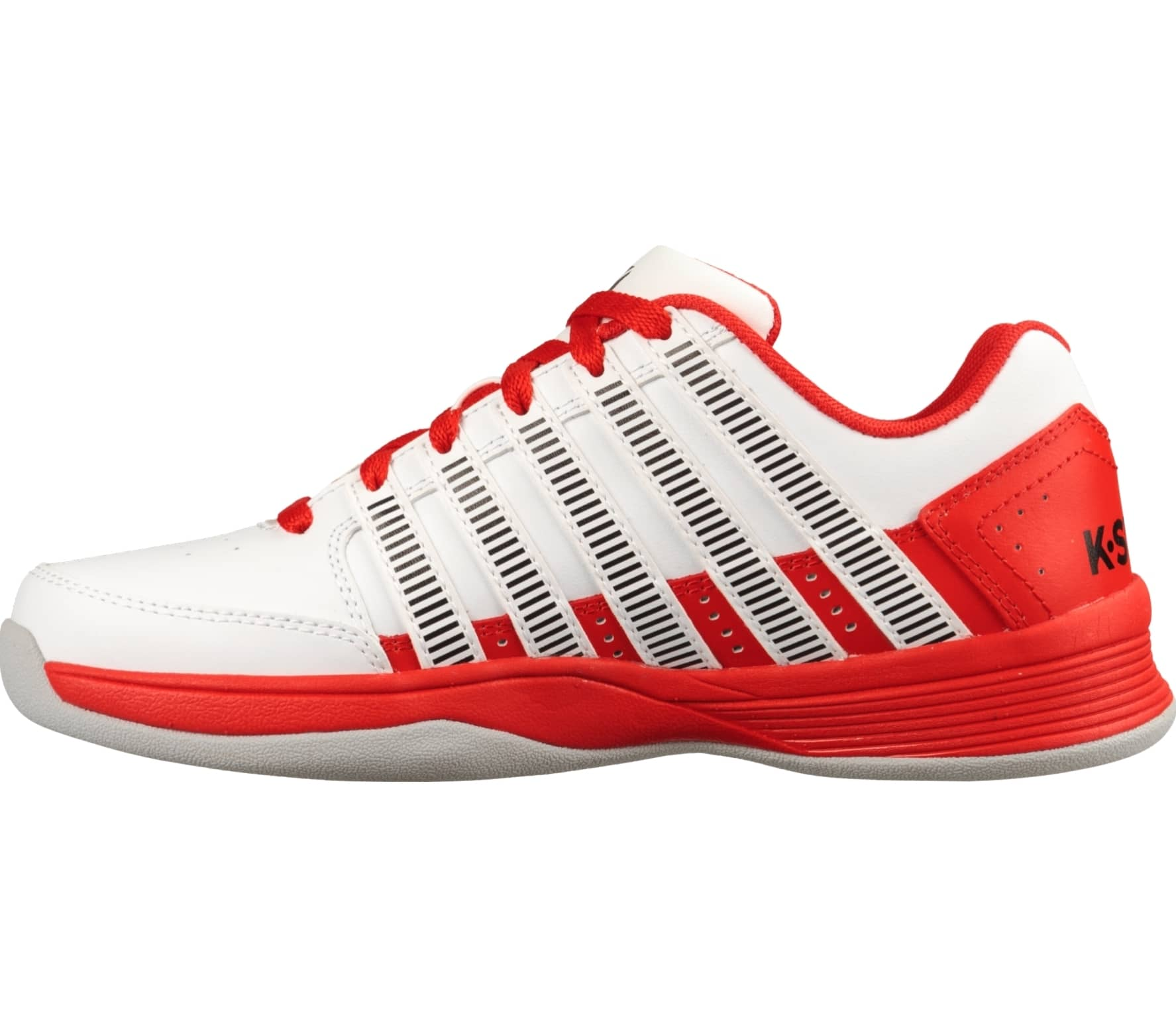 brand new c0a14 ba936 K-Swiss - Court Impact LTR Carpet Enfants Chaussure de tennis (rouge blanc