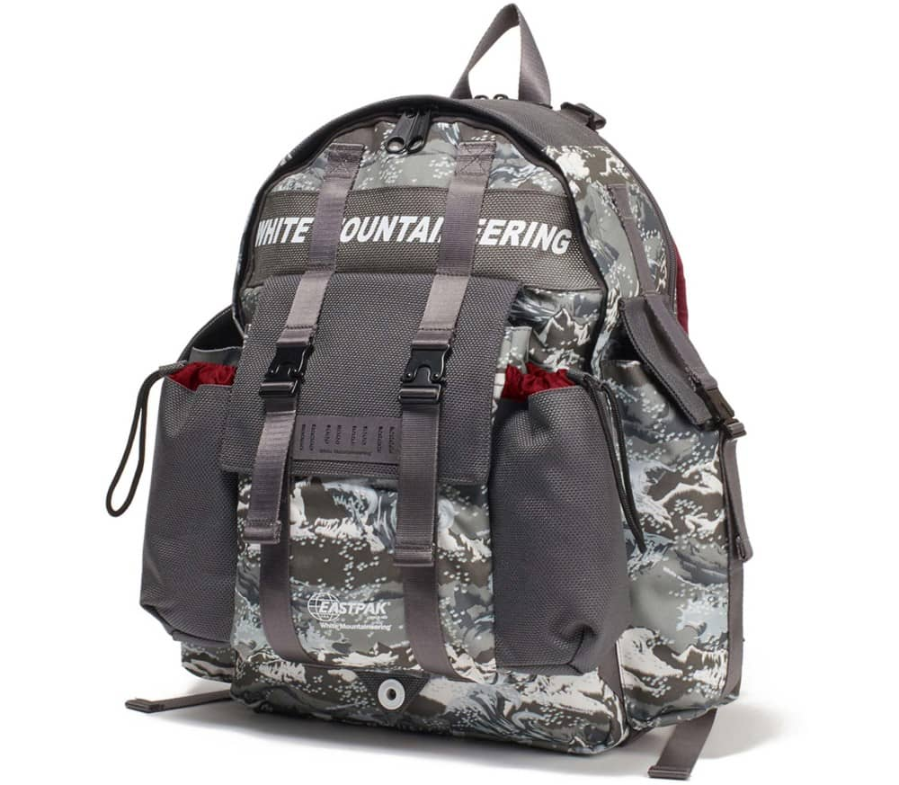X White Mountaineering Mountain Wave Printed Multi Pocket Backpack
