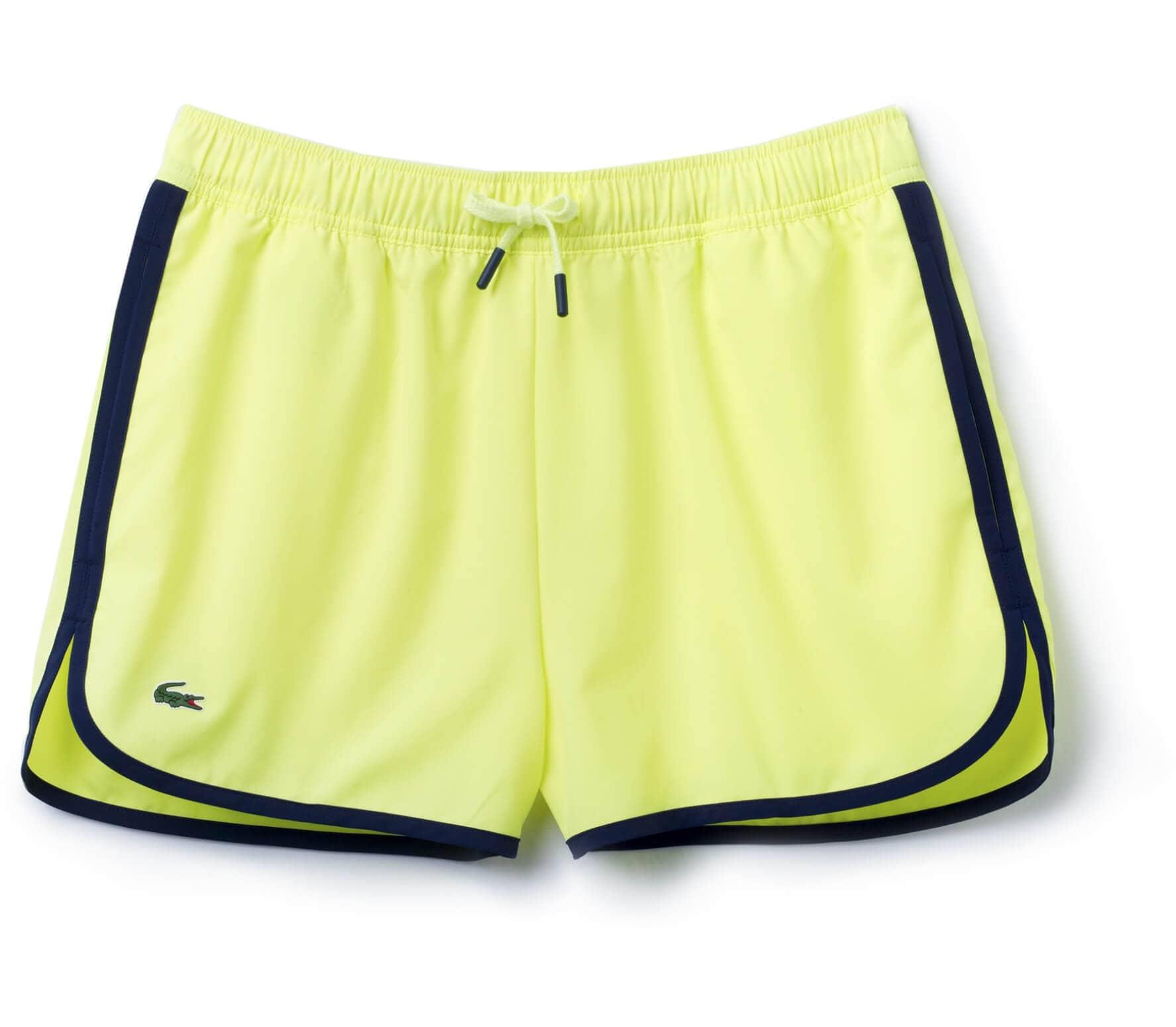 Lacoste - women s tennis shorts (yellow dark blue) - buy it at the ... 89f85a3e577