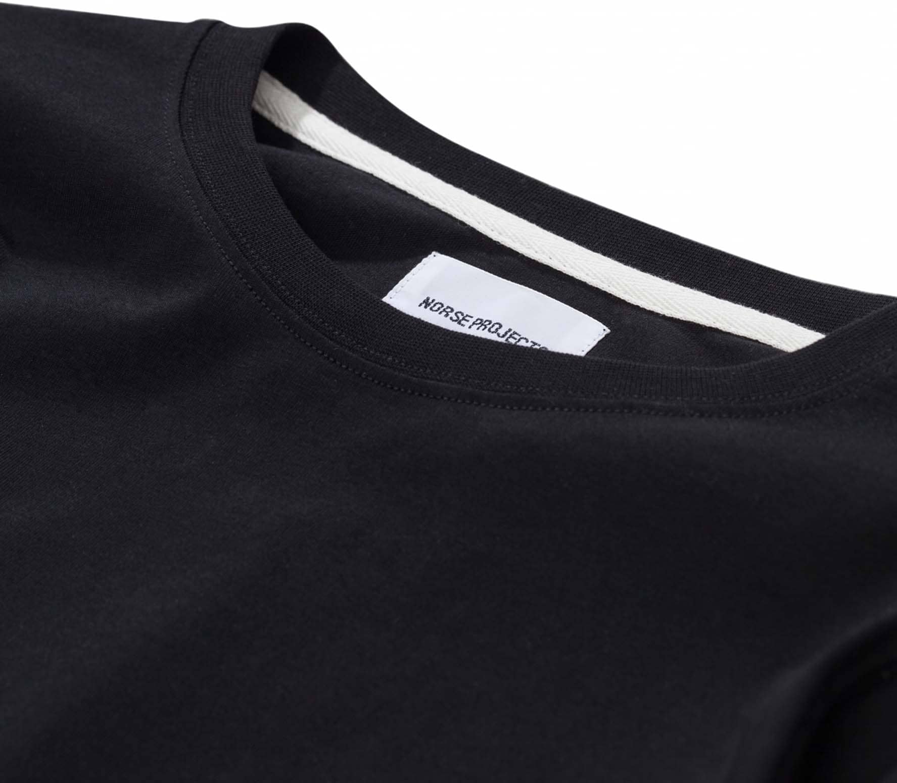 Norse Projects Niels Standard Unisex Long Sleeve black
