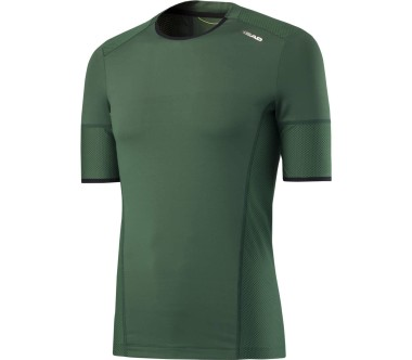 Head - Performance CT Crew men's tennis top (green)