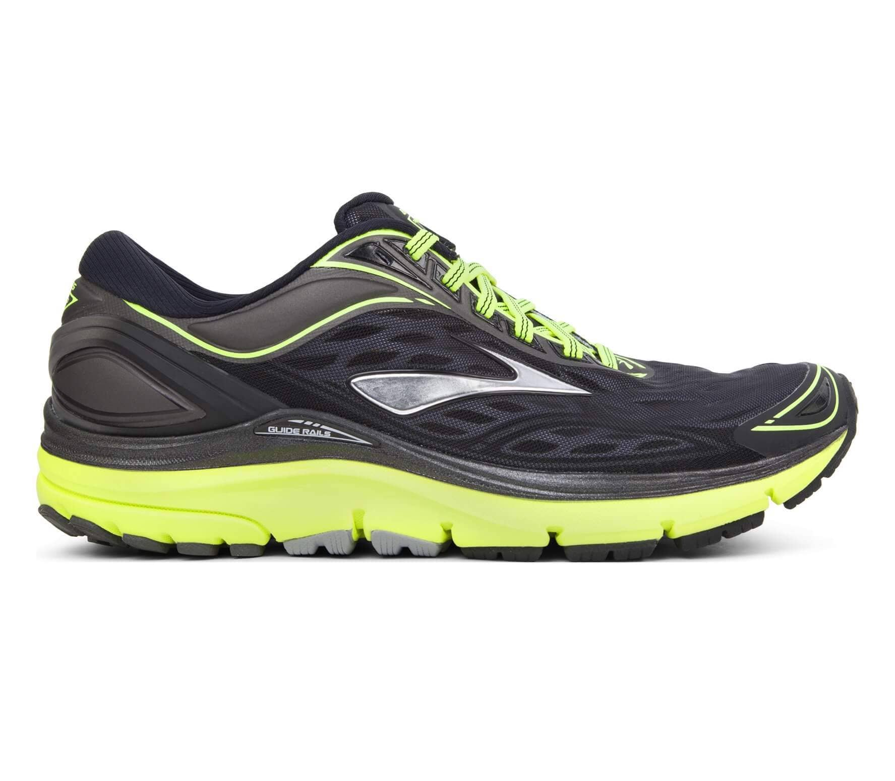 reputable site e112b ce4be Brooks - Transcend 3 men's running shoes (black/yellow)