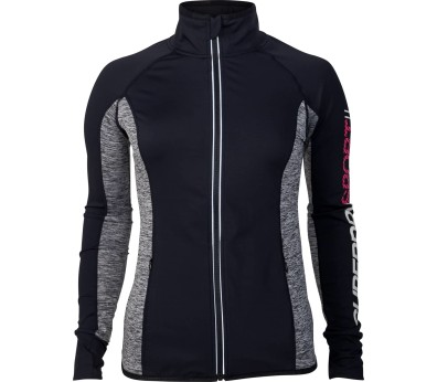 SUPERDRY SPORT® - Essentials Track Damen Trainingstop (schwarz/grau)