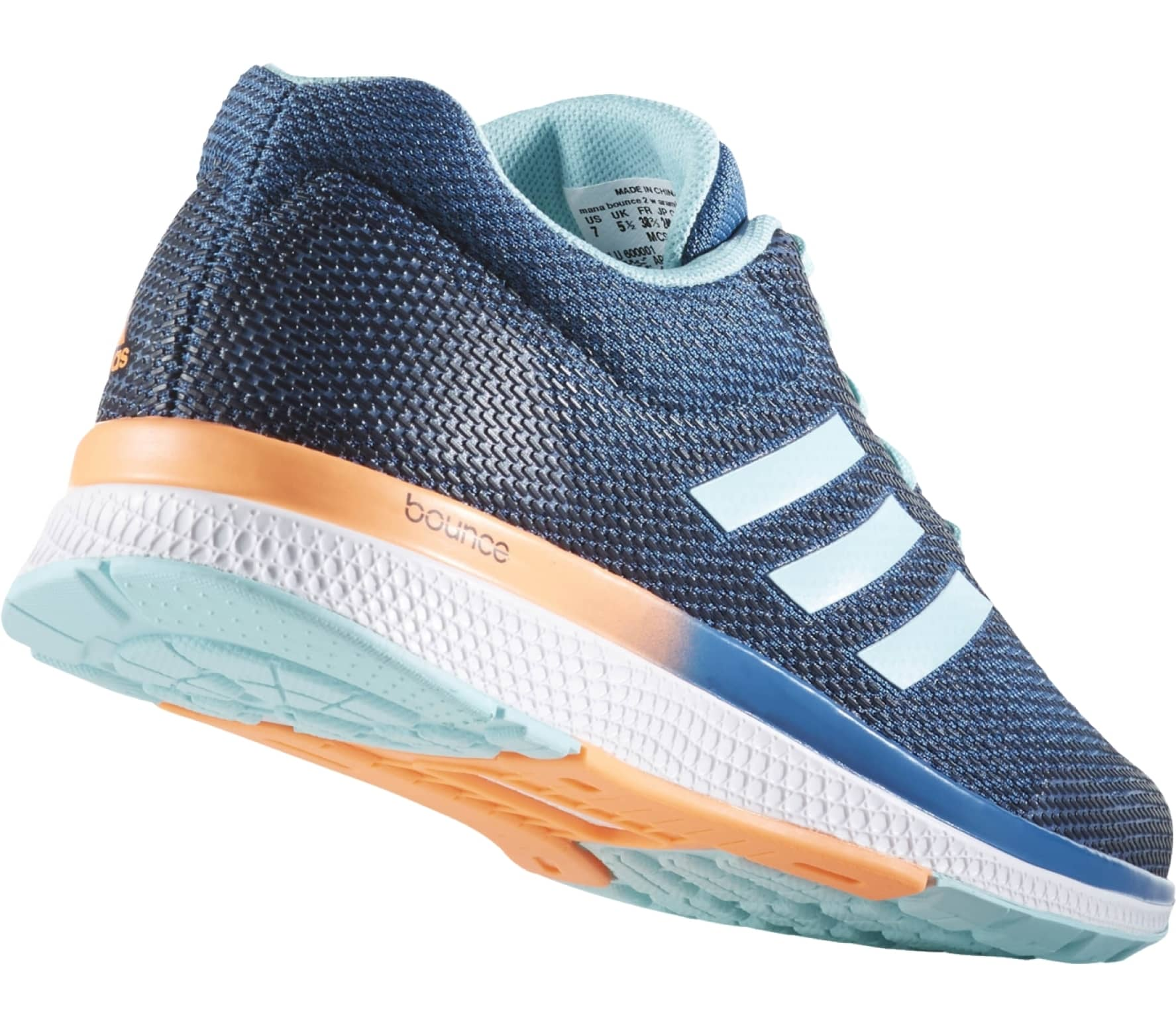 45fec89121edd Adidas - Mana Bounce 2 Aramis women s running shoes (blue orange ...