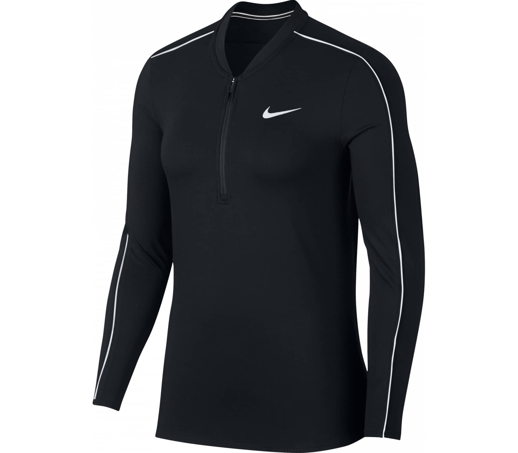 b0410121 Nike - Court Dry women's tennis long-sleeved top (black) - buy it at ...