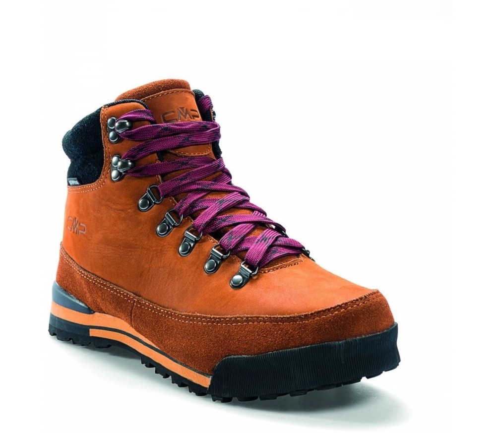 retro style hiking boots
