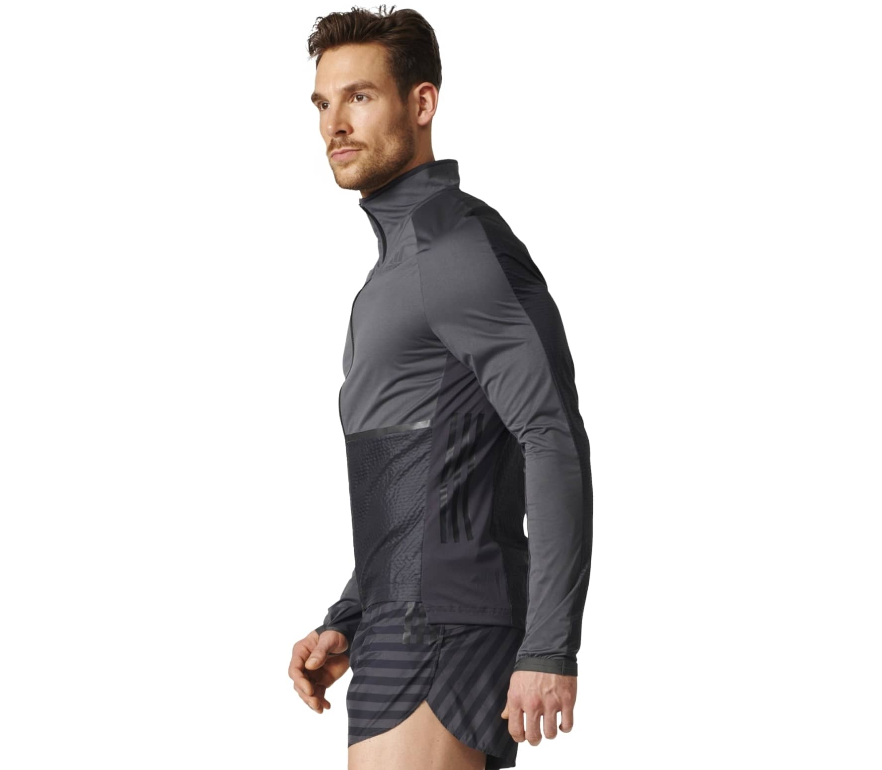 Men's Clothing White Comfortable And Easy To Wear Adidas Adizero Track Mens Running Jacket