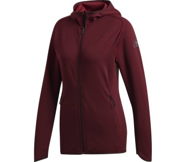 Adidas - Free Lift CC Hoodie women's training jacket (dark red)