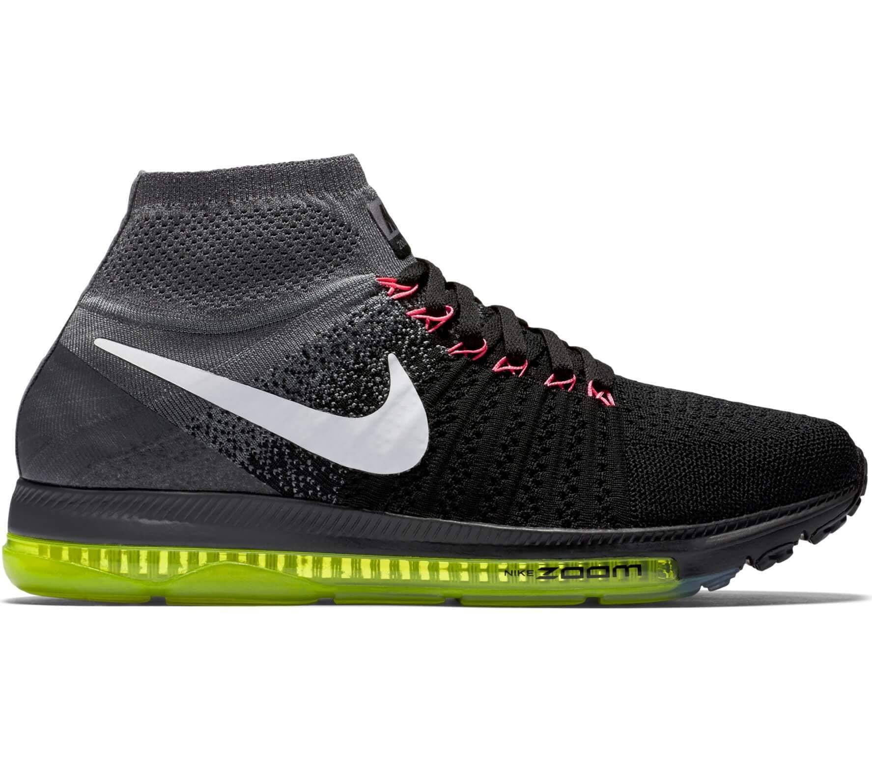 Nike - Zoom All Out Flyknit zapatillas de running para mujer (negro/blanco)