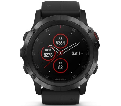 Garmin Fenix 5x Plus Outdooruhr Unisex schwarz