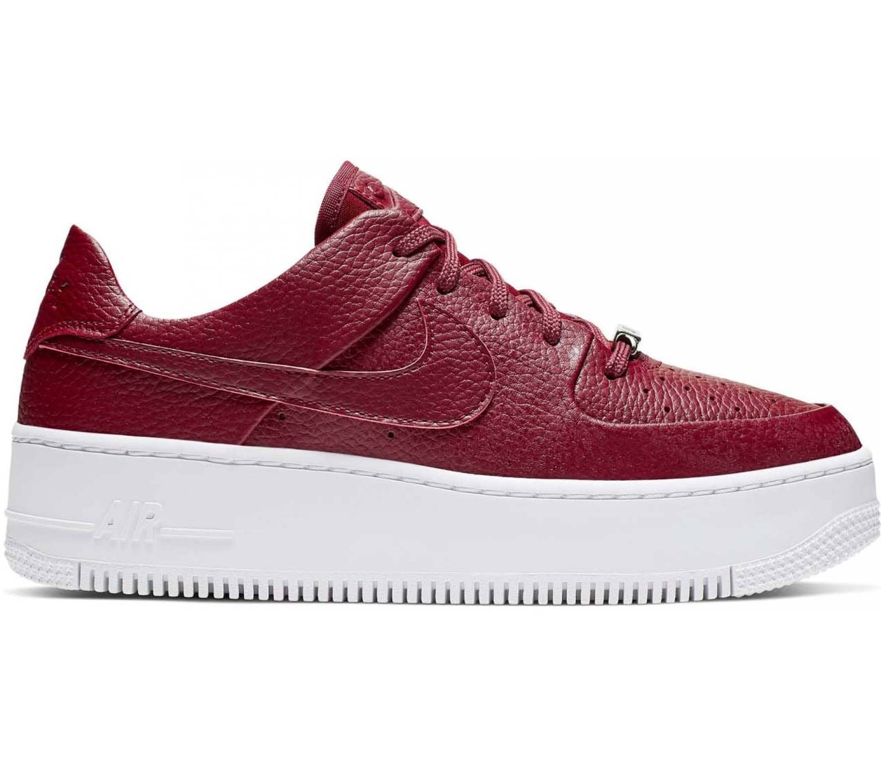 Nike Sportswear Air Force 1 Sage Low Damen Sneaker rot