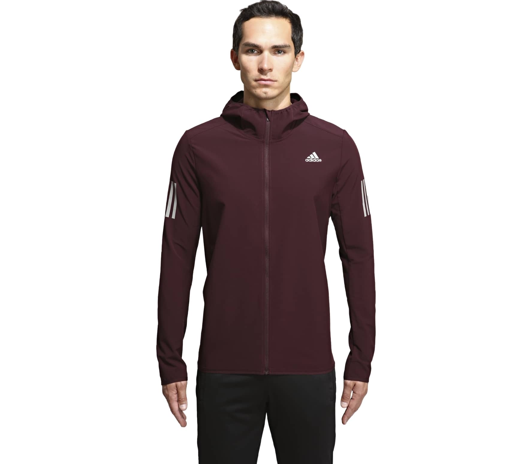 Adidas - Response Shell men's running jacket (dark red) - M thumbnail