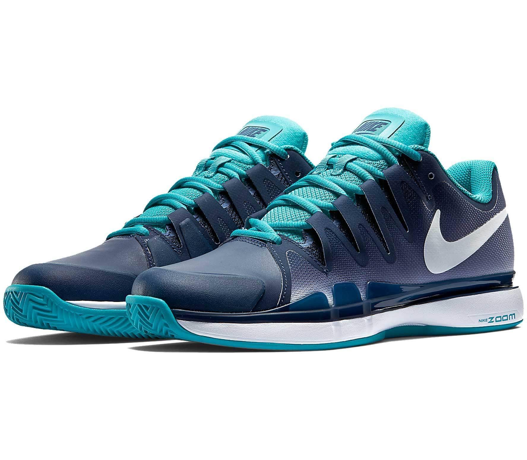 info for 2acd3 37671 Nike - Zoom Vapor 9.5 Tour Clay Hommes Chaussure de tennis (bleu  foncé turquoise