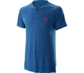 Competition Seamless Henley Men Tennis Top