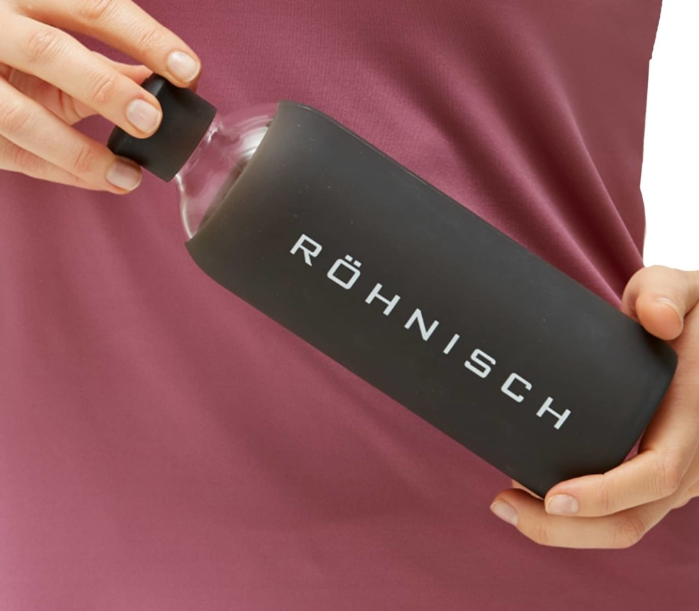 Röhnisch - Glas 0,55 L women's drinking bottle (black)