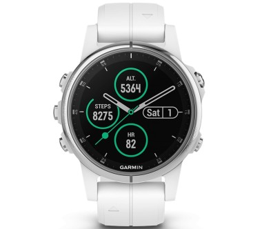 Garmin - Fenix 5S Plus Saphir Edition multisports watch (white/silver)