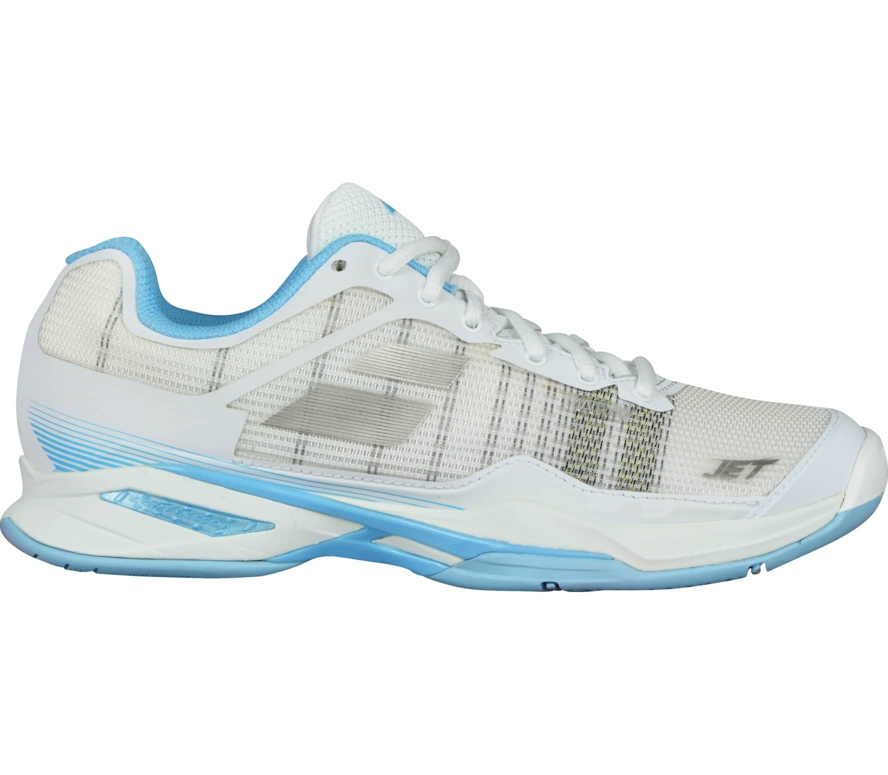44fe90fd5414 Babolat - Jet Mach I Allcourt women s tennis shoes (white light blue ...