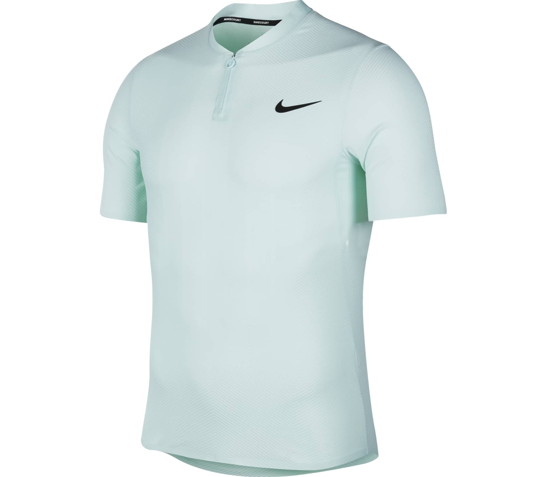 Nike - Court Zonal Cooling Advantage Hommes Tennis Polo (bleu)