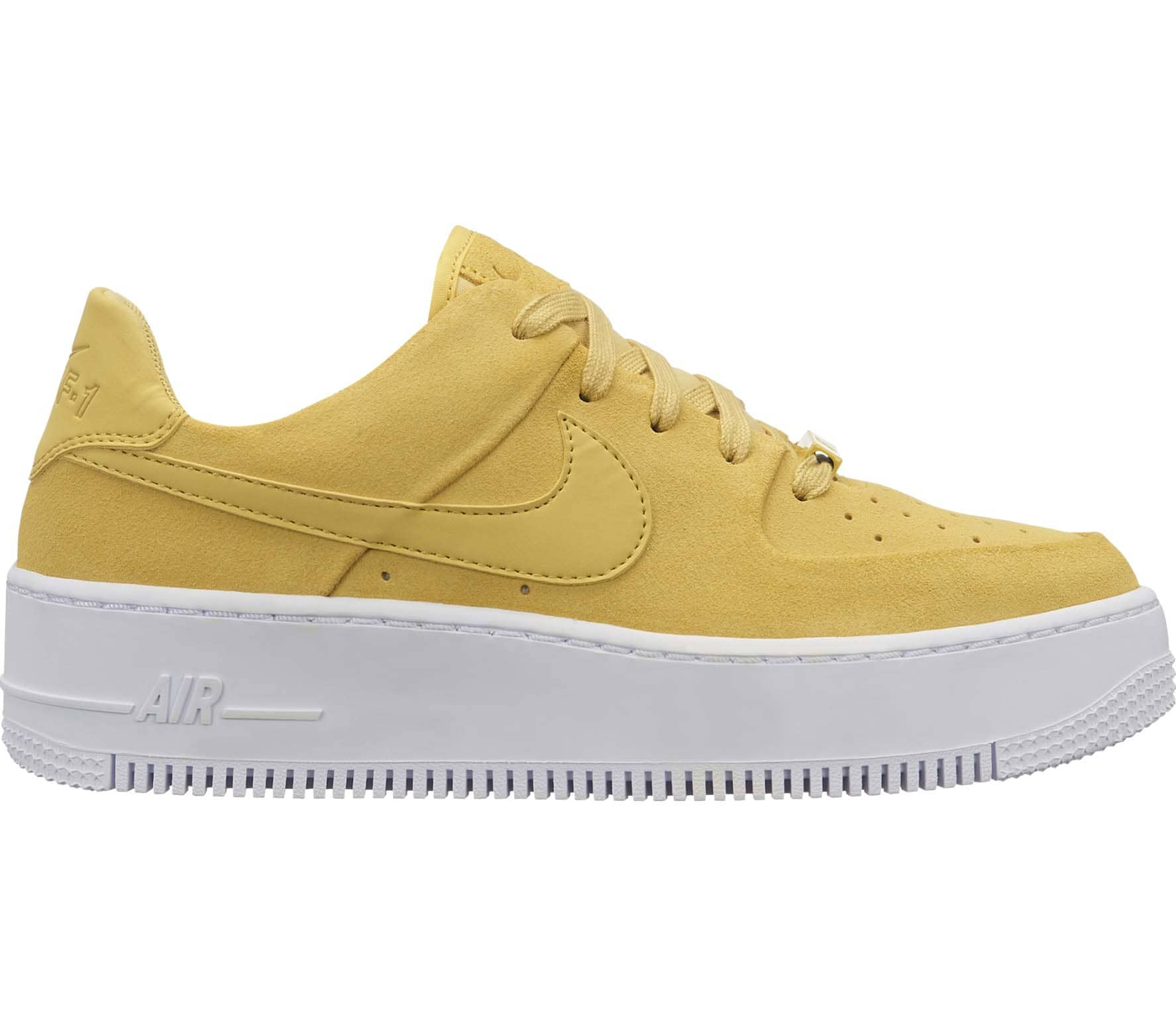 0c57e6693 Nike Sportswear Air Force 1 Sage Low women s trainers (yellow ...