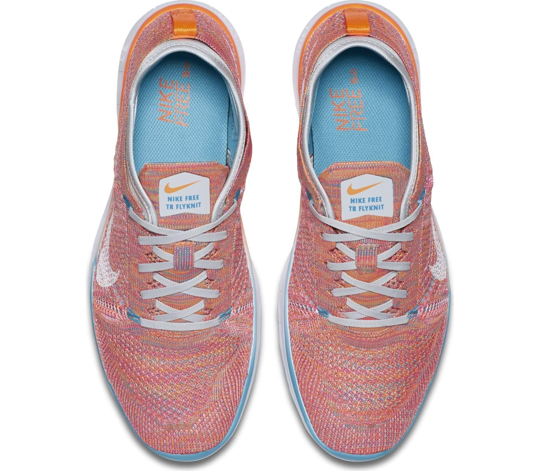 Nike - Free TR Flyknit Damen Trainingsschuh (orange/weiß)