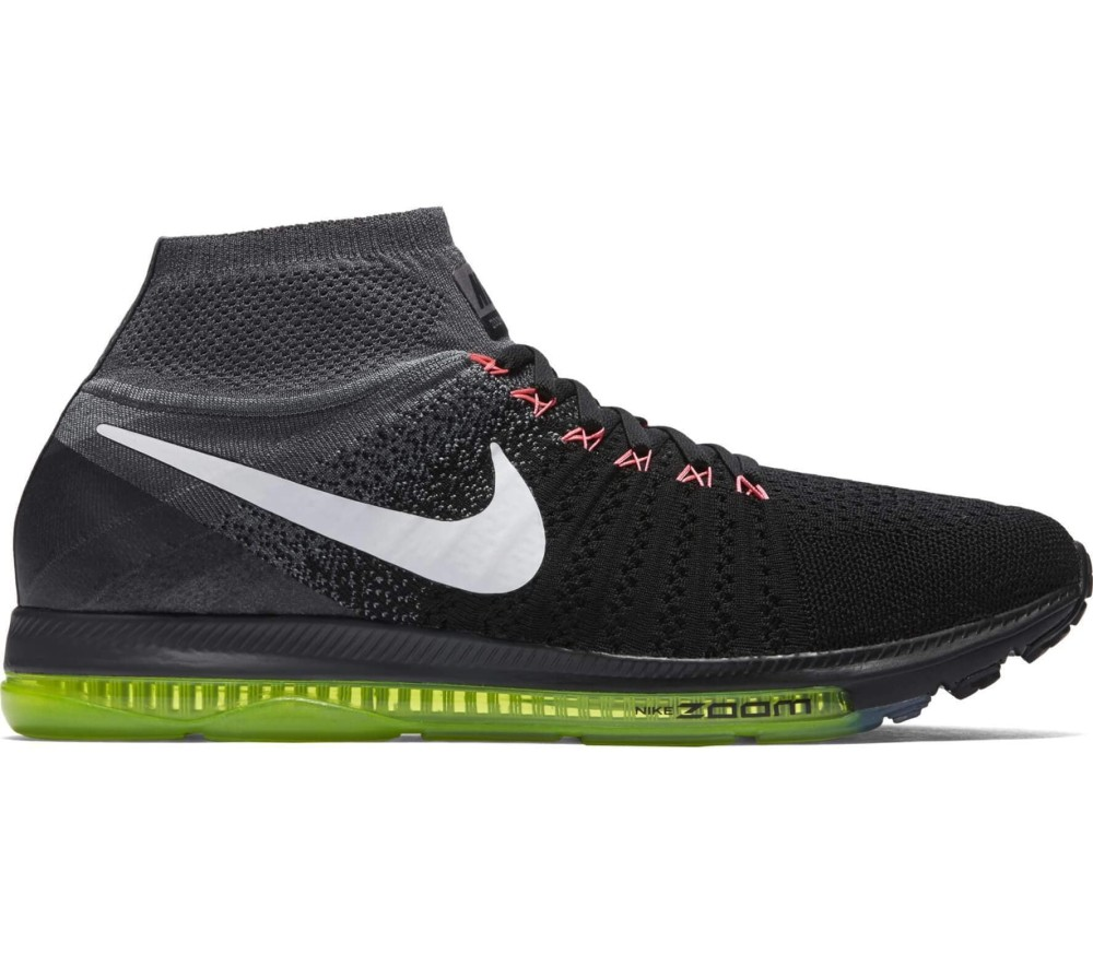 check out a3081 66c10 ... discount code for nike zoom all out fly knit mænd løbesko sort hvid  83844 d5588
