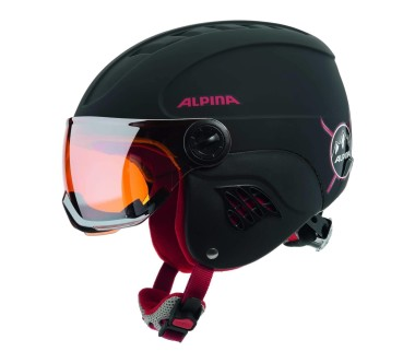 Alpina - Carat Le Visor HM children's ski helmet (black/red)