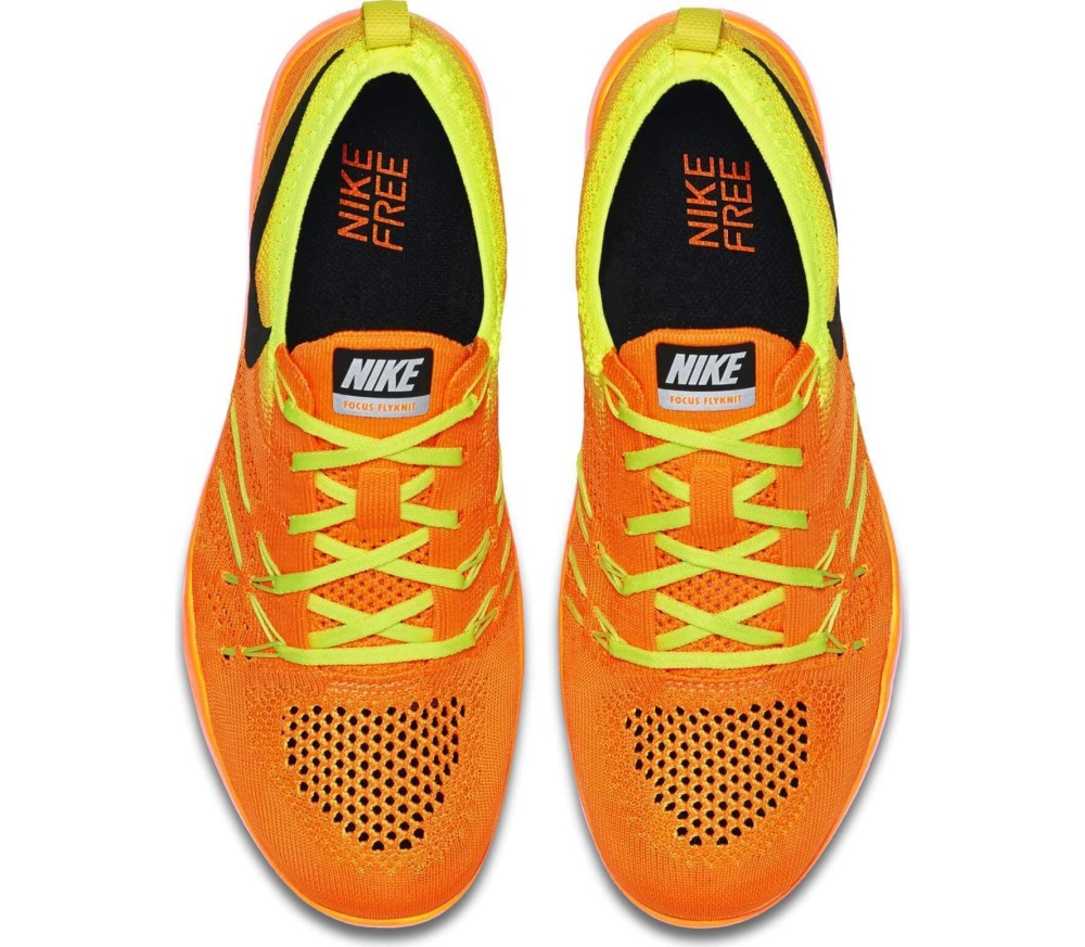 Nike - Free Focus Flyknit Damen Trainingsschuh (orange/gelb)
