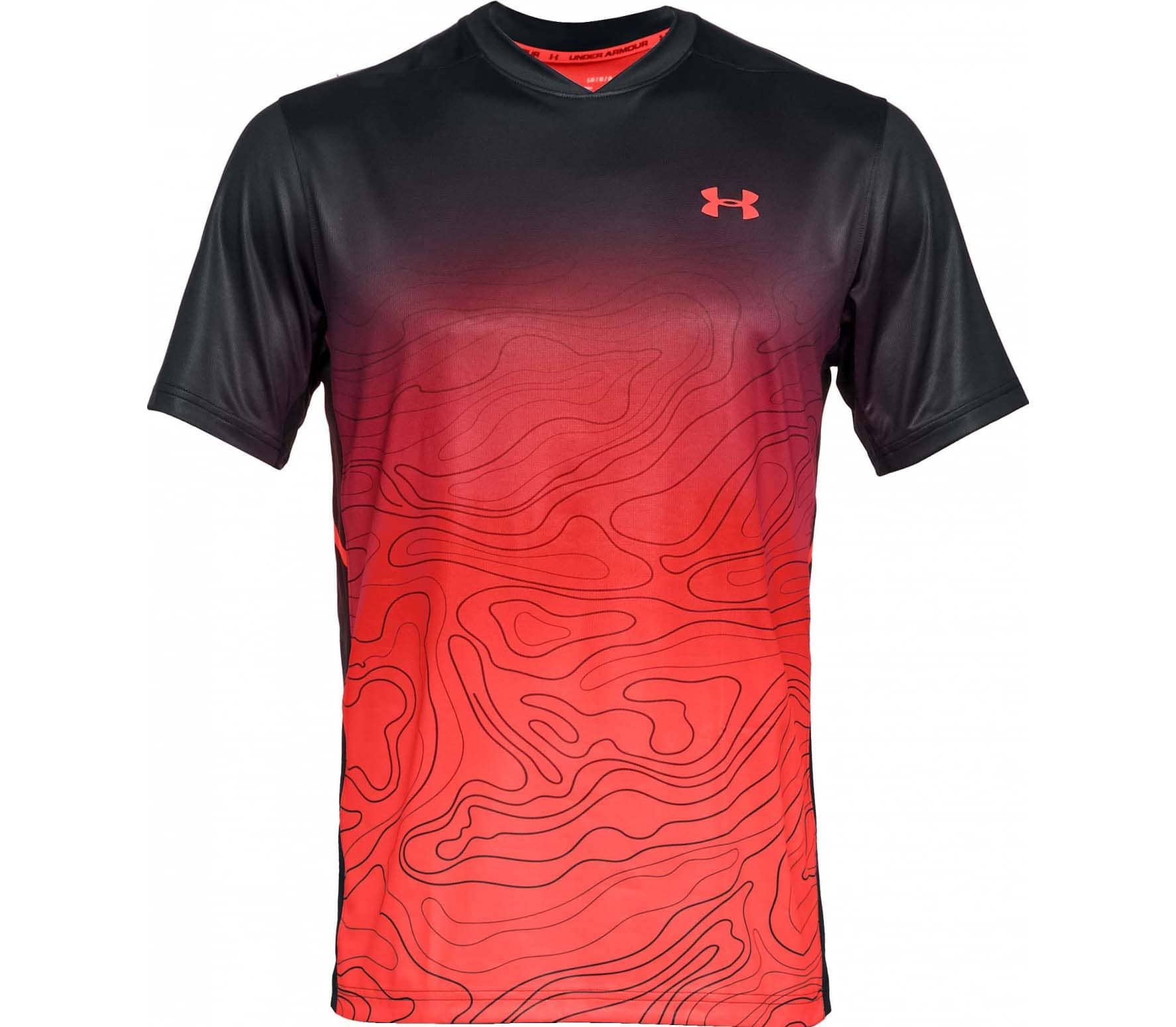 e6db8a8b Under Armour - Forge Ss Crew men's tennis top (black/red) - buy it ...