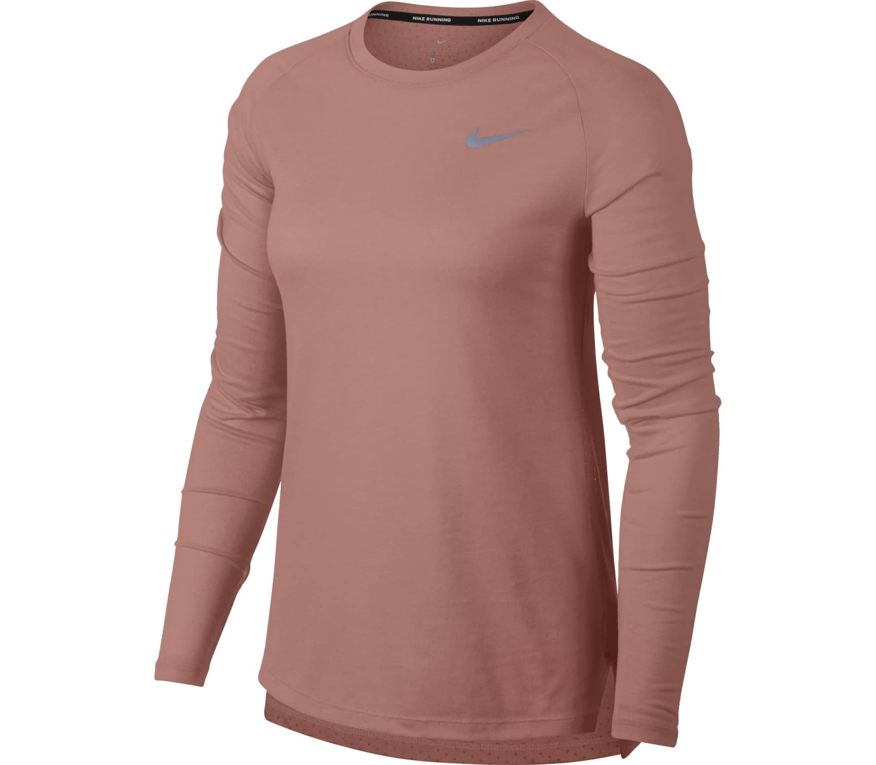 2121559e1d2b30 Nike - Tailwind women's long-sleeved top (pink) - buy it at the ...