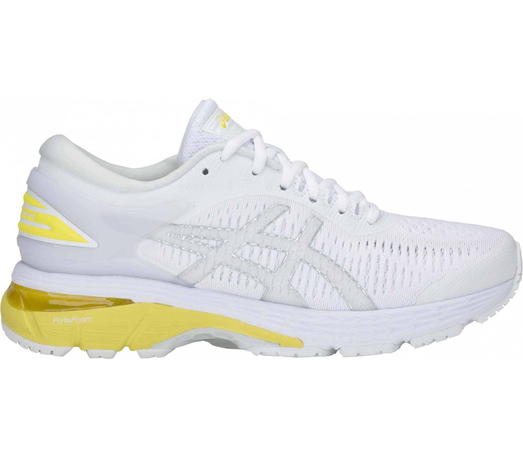 check out 20c7c 2a415 ASICS - Gel-Kayano 25 Dam löparskor (vit gul)