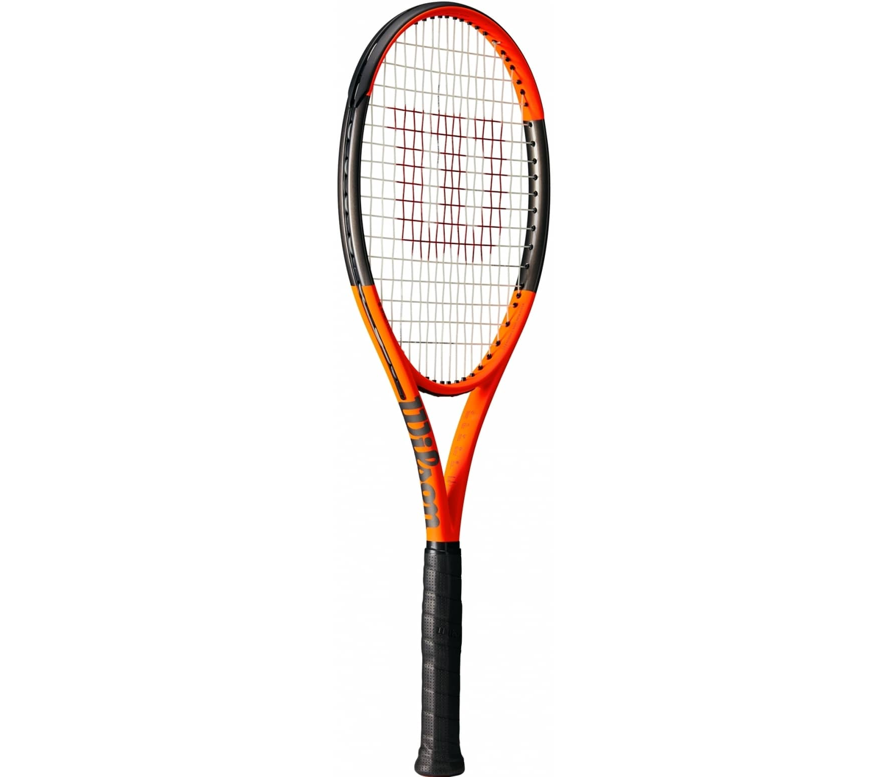 Wilson - Burn 100LS (unstrung) Reversed tennis racket (orange/black)
