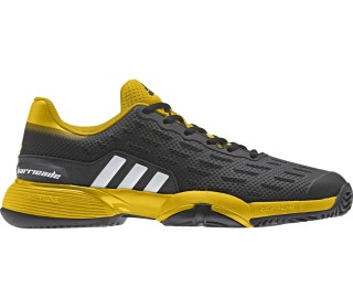 finest selection b8768 8031b Adidas - Barricade X Junior Tennisschuh (schwarzgelb)