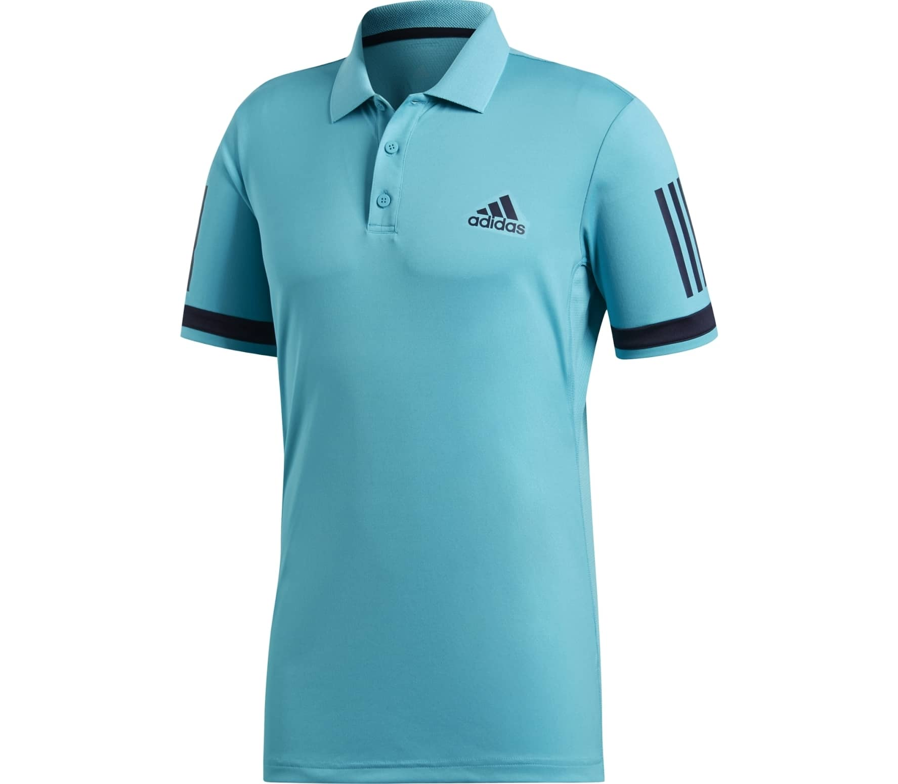 8b2b91faaa adidas performance - Club 3 Stripes men's tennis polo top (turquoise ...