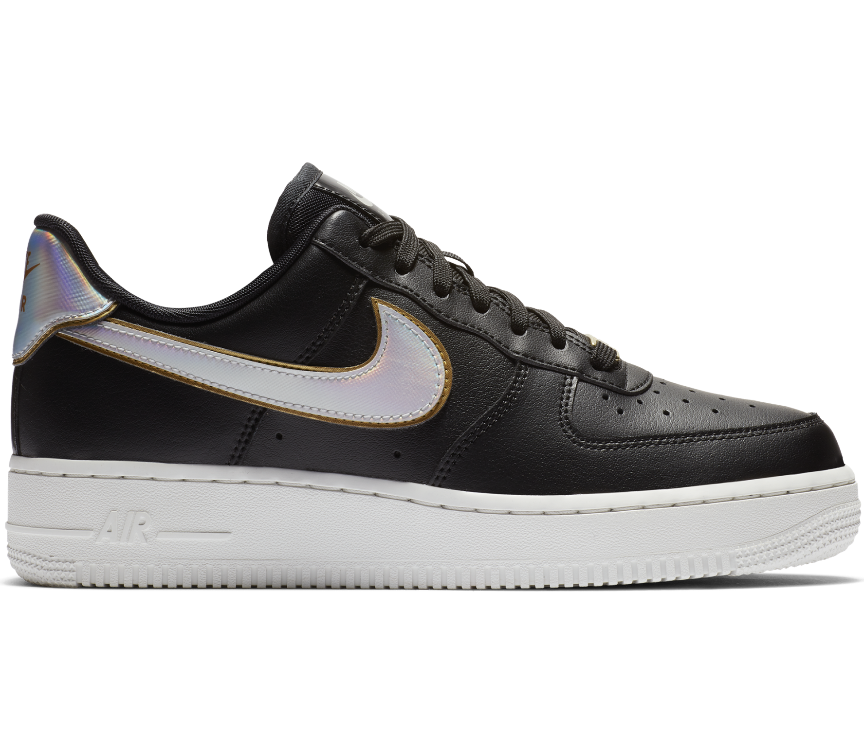 Air Force 1 '07 Metallic Damen Sneaker (schwarz)