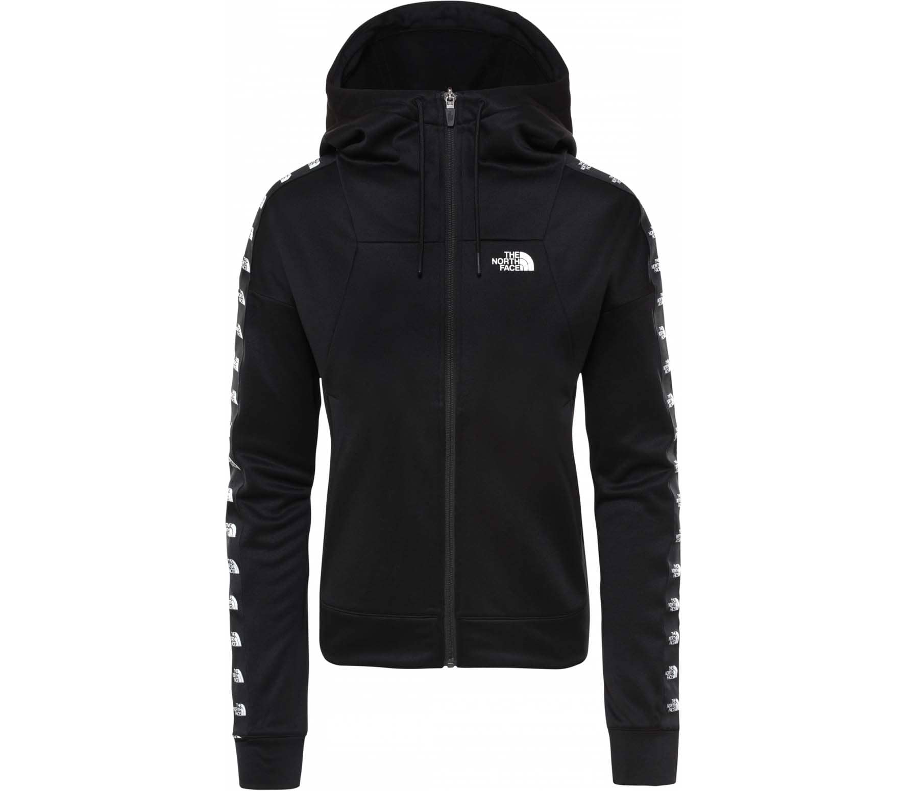 a9475209fb The North Face TNL CROP FULL ZIP Damen Jacke schwarz im Online Shop ...